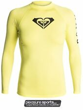 Roxy Whole Hearted Rashgaurd 50+ UV Protection Long Sleeve Womens - Yellow
