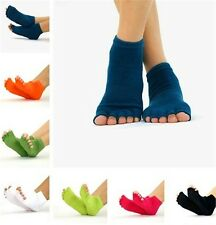Pure Cotton Wearproof Open-toed Non-slip Yoga Massage Five Fingers Half Toe Sock