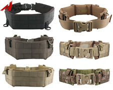 Tactical Military Army Airsoft Hunting Molle Combat Patrol Waist Padded War Belt