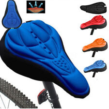3D Pad Gel Silicone Cycling Bicycle Bike Saddle Cushion Soft Pad Seat Cover
