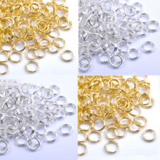 Wholesale 80-300Pcs Gold &Silver Plated Metal Jump Double Split Jump Ring 4-14MM