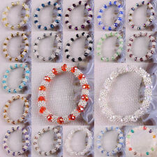 New Free Shipping Mixed Crystal Faceted Beads Stretch Bracelet 1Pcs H986-1003
