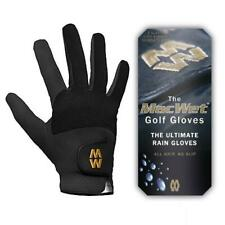 Glenmuir MacWet Micromesh Wet Weather Golf Gloves (Black) Various Sizes