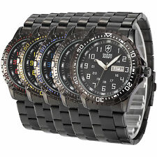 SHARK ARMY Men Analog Date Outdoor Stainless Steel Quartz Sport Wrist Watch