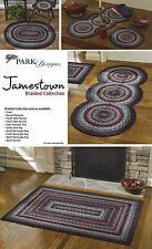 Jamestown Braided Rugs by Park Designs, Blue, Gray, Red and White, Pick, 5 Sizes