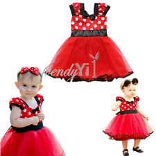 Girls Kid Baby Party Polka Dot Minnie Mouse Tutu Dress 0-9M Cosplay Clothing Set
