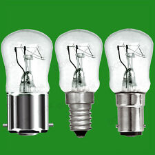 2x 25W Dimmable Clear Pygmy Light Bulbs, BC, B22, SBC, B15d or SES, E14 Lamps