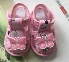 Toddler shoe pink butterfly yellow mouse sandals shoes CuteKids infant shoe new