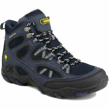 New Cotswold Mens Aggshill Mid Waterproof Lace Up Walking Hiking Boot Navy Blue