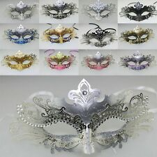Rhinestones Party Costume Mask LASER CUT Metal Filigree Venetian Masquerade