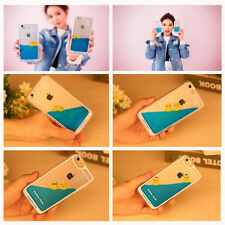 Hot Cute Swimming Duck Moving Liquid Hard PC Case Cover For iPhone 5 5S 6 6 Plus