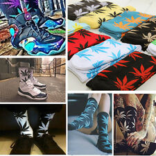 Women Men Marijuana Long Weed Leaf Crew Plant Life Cotton Sport Socks Ankle
