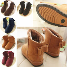 Ladies Trendy Winter Warm Fur Lined Bowknot Ankle Snow Boots Shoes 5 Colors 708