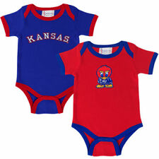 Kansas Jayhawks Two-Pack Embroidered Creeper Set - Crimson/Royal Blue - College