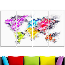 Design Art 'Colors of the Rainbow' Map Canvas Art Print
