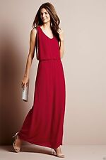 Next Red Drape Embellished Side Maxi Dress Summer Party Evening Cocktail