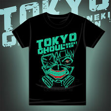 New Kaneki Ken Short Sleeves T shirt Anime Tokyo Ghoul Cos Luminous Tee Unisex