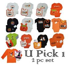 Halloween Bodysuit Baby Bib 1st Holiday Creeper Romper Costume Boys Girls