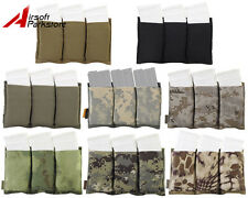 Tactical Military Hunting Molle Triple Open Top 5.56 .223 Magazine Pouch Holster