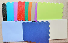 A6 Scolloped Edged Card Blanks in Blue Stardream & Asst Alchemy Pearl & Glitter