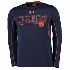 Men's Under Armour Navy/Orange Auburn Tigers Long Sleeve Performance T-Shirt