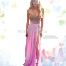 Sequins Long Prom Dress Cocktail Formal Party Ball Gown Evening Homecoming Dress