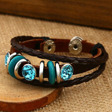 New Creative Punk Couple Lovers Men Women PU Leather Bracelet Wristband
