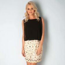 Womens Frock And Frill Blouson Embellished Dress In Black Stylish Dresses