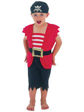 Kids Pirate Buccaneer Deck Hand Age 2-3 Boys Toddler Fancy Dress Costume Outfit