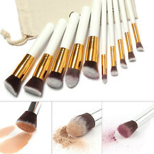 Durable 10Pcs Soft Makeup Brushes Professional Cosmetic Make Up Brush Tool Set