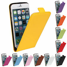 Stylish Genuine Leather Vertical Flip Protective Case Cover Pouch for iPhone
