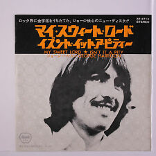 GEORGE HARRISON: My Sweet Lord / Isn't It A Pity 45 (Japan black vinyl, PS inse