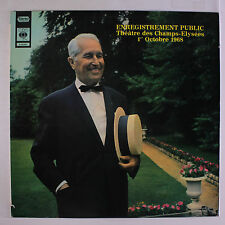 MAURICE CHEVALIER: Enregistrement Public LP (France, laminated cover, saw mark)
