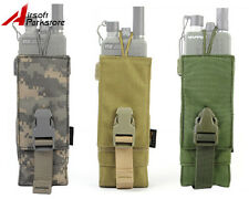 Tactical Military Airsoft 1000D Molle Belt PRC 148/152 Radio Pouch Bag Holster B