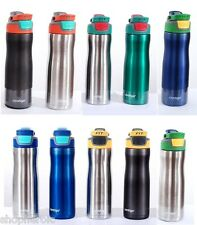 Contigo FIT Stainless Steel 20oz Handle Sport No BPA Water Bottle 18-Hour USED