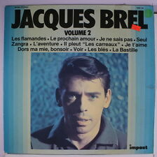 JACQUES BREL: Jacques Brel Vol. 2 LP (France, sm tear oc opening, sm tape on to