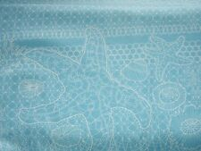 Tidal Lace Light Blue White Net Netting Beach Shell Starfish Fabric BTY BTHY