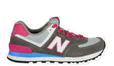 New Balance Womens 574 Classic Sneakers Grey Pink WL574CPW