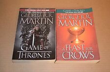 George RR Martin Game of Thrones and A Feast For Crows Novel Book 1 4 EUC