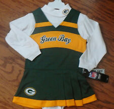 Green Bay Packers infant toddler Two piece Cheerleader Jumper Dress NWT