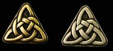 """Triangle Celtic Knot Metal Buttons 1"""" Irish Medieval Renaissance SCA *Set of 6*"""