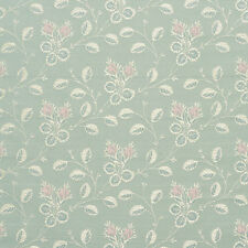 D146 Gold Pink And Blue Floral Brocade Upholstery Fabric
