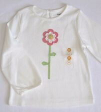 Gymboree Growing Flowers Top 12 18 24 2T 3T 4T New Ivory Tee Shirt Girls Twins