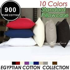 LUXURY 48 × 73CM PURE COTTON 900TC STANDARD PILLOWCASE X2 Multi-Colors