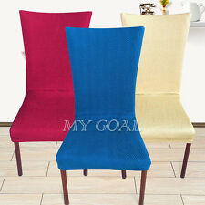 Super Removable Dining Chair Cover Stretch Washable Seat Slipcover Wedding Decor