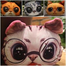Fasion 3D Cute Cat Face Shape Chair Pillow Cushion Case Cover Toy Doll Xmas Gift