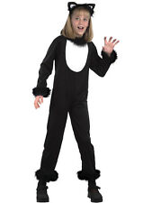 Child Kitty Black Cat Outfit Animal Halloween Fancy Dress 3-10 Years New Witch