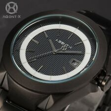 AgentX Unique Stylish Mens Date Display Stainless Steel Quartz Sport Watch