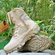 Men Tactical Linghtweight Combat Boot Hiking Zipper Outdoor Hunting Shoes Size