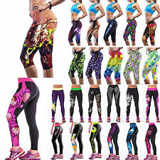 Women YOGA Gym Sport Capri Fitness Skinny Compression Tights Causal Dance Pants